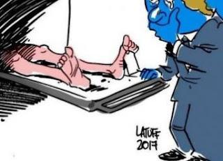Συγκλονιστικό σκίτσο του Λατούφ για την υποκρισία των συστημικών ΜΜΕ
