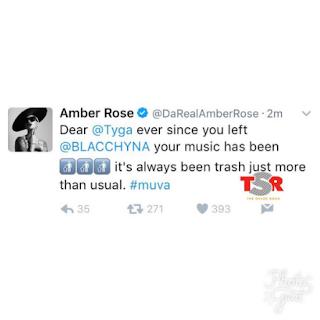 Amber Rose Tyga Twitter Beef