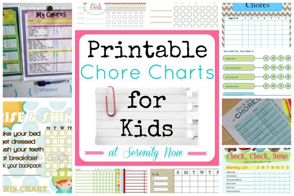 Printable Chore Charts for Kids (Round Up), from Serenity Now