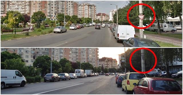 """A fost eliminat indicatorul """"Cedează trecerea"""" de la intersecția din Obcini, lângă Spital"""
