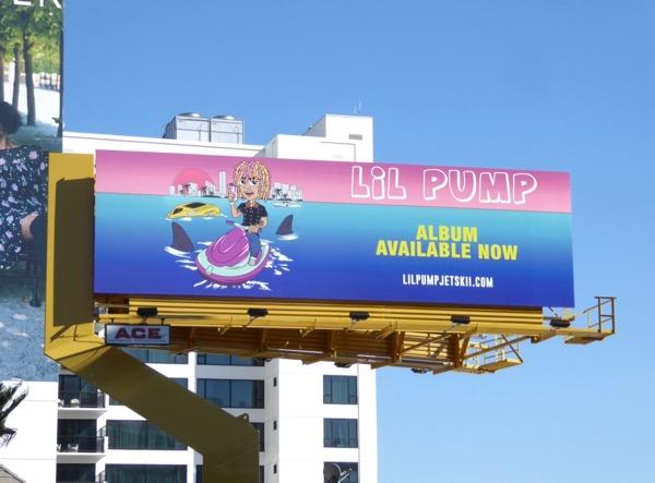 Lil Pump Jet ski billboard