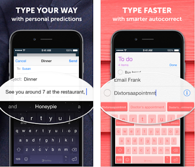 SwiftKey Keyboard for iPhone, iPad and iPod Touch is a smart keyboard that learns from you. The app learns your writing style to give you super-accurate autocorrect and intelligent next word prediction