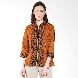 Model Baju Batik Kerja Kombinasi Terbaru