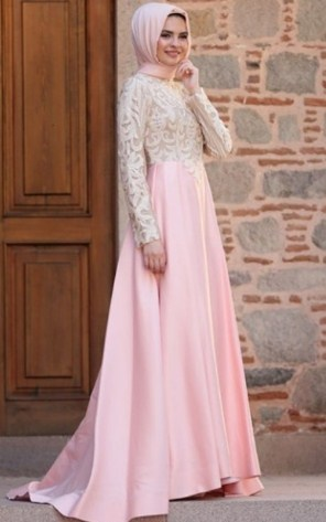 30 Model Baju Muslim Brokat Terbaru 2017 Desain Cantik