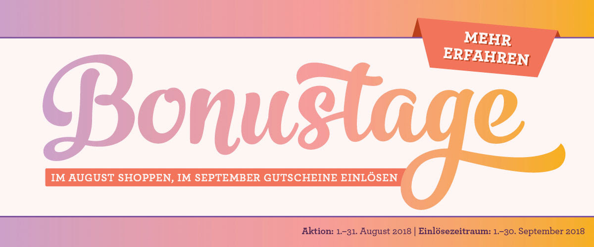 Bonustage im September