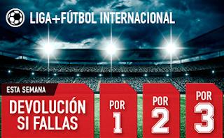 sportium Fútbol: Combinadas 'con seguro' hasta 4 marzo