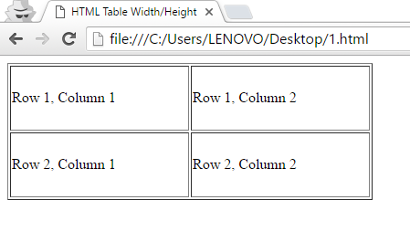 Html td width percentage phpsourcecode net for Table td width