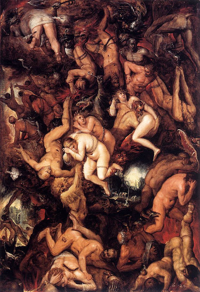 The Damned Being Cast into Hell by Frans Francken the Younger, Macabre Paintings, Horror Paintings, Freak Art, Freak Paintings, Horror Picture, Terror Pictures