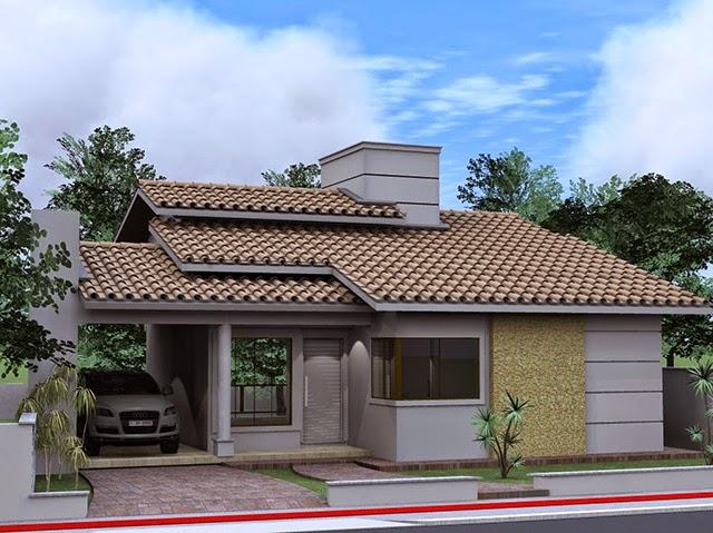 Fachadas para casas pequenas ap em decora o for Casa moderna flooring
