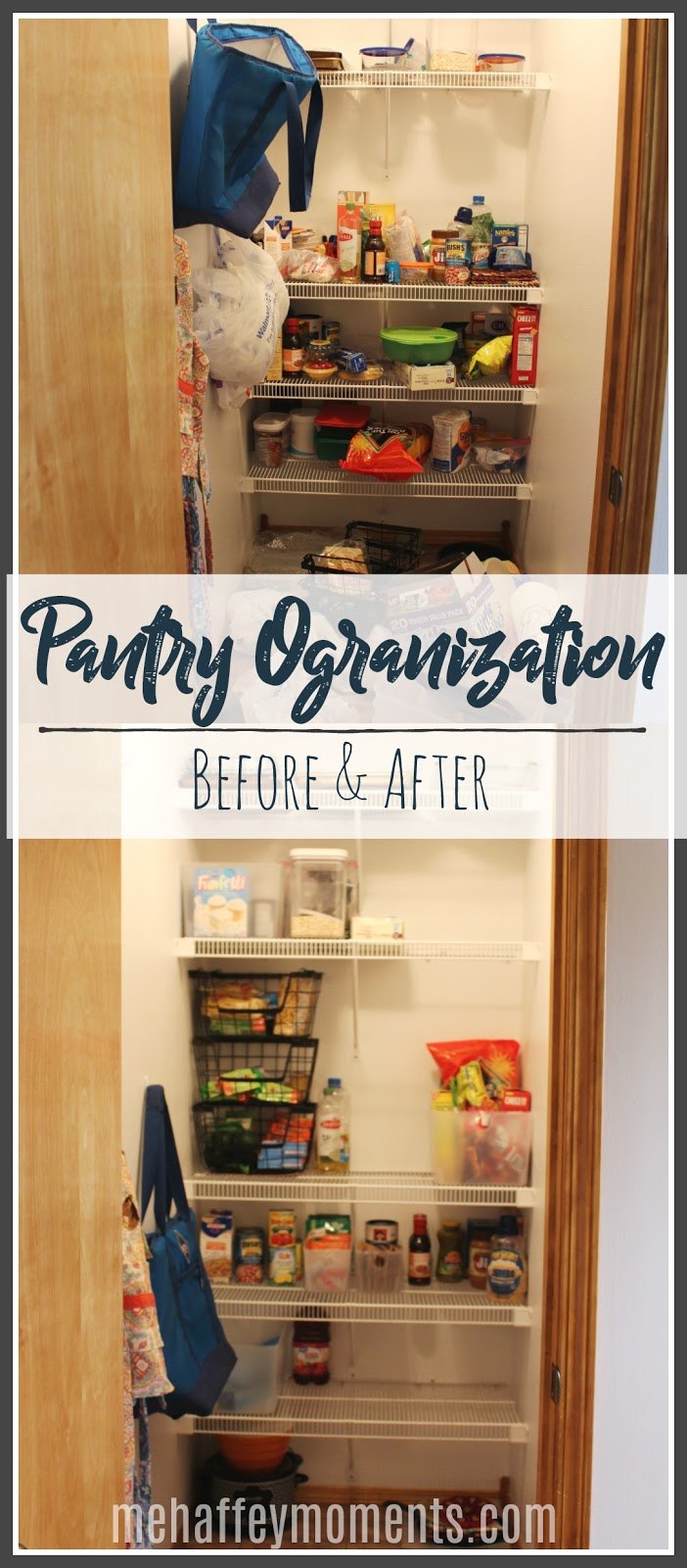 Pantry Organization, before and after Pinterest