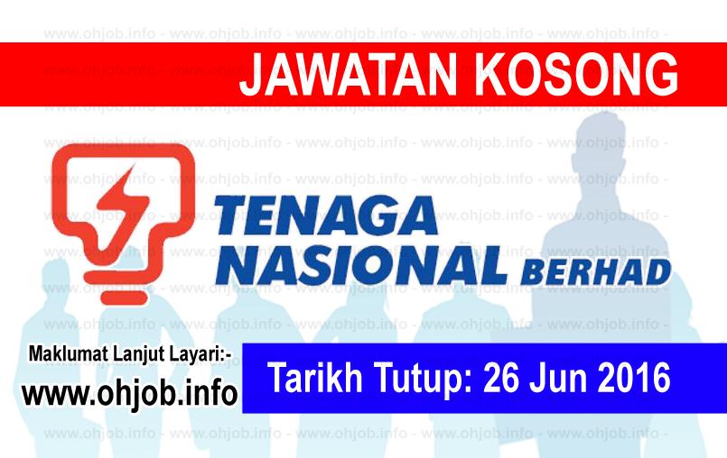 Jawatan Kerja Kosong Tenaga Nasional Berhad (TNB Research) logo www.ohjob.info jun 2016