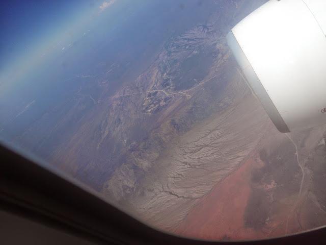 Desde Santiago de Chile, los Andes desde el avión