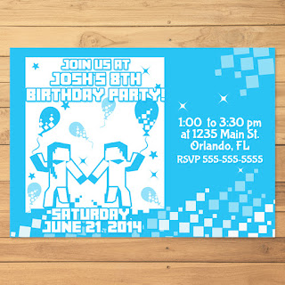 Minecraft Invitation Dance Party