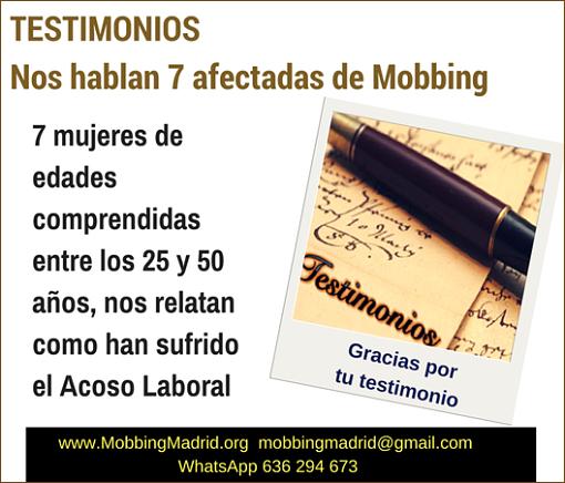 TESTIMONIOS Nos hablan 7 afectadas de #Mobbing