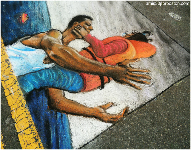 Refugiados Chalk on the Walk en la MayFair 2016