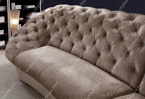 Stylish Sofa furniture set includes one long Beige 3 piece sofa a Beige ottoman and a Beige  love seat