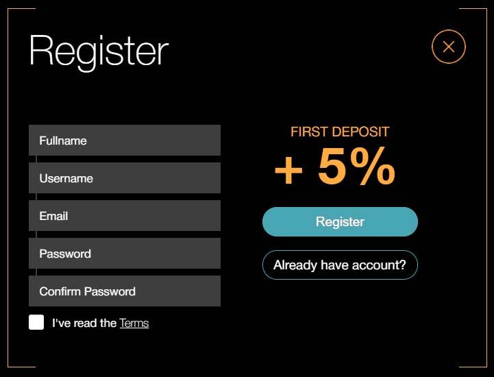 Регистрация в BitBIOS