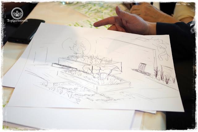 Gartenblog Topfgartenwelt Bloggertreffen Gartenmesse Stuttgart 2018: Vortrag eines Gartenplaners
