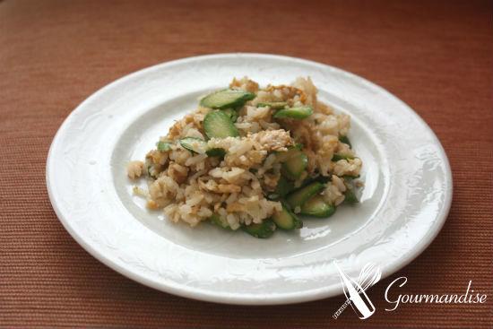 Fried rice com aspargo