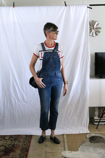 overalls loafers