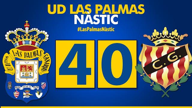 Marcador final UD Las Palmas 4-0 Nàstic de Tarragona