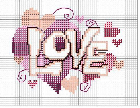 Dia dos Namorados Especial Em Ponto Cruz Com Gráficos88