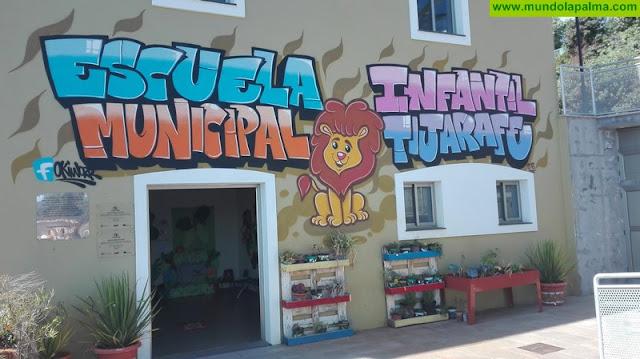 """La escuela infantil de Tijarafe se suma a la iniciativa de Mundo Miel """"Yo planto futuro"""""""