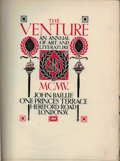 The Venture 1905 – Title Page