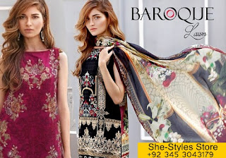 Baroque Lawn Luxury Eid Collection 2017-18