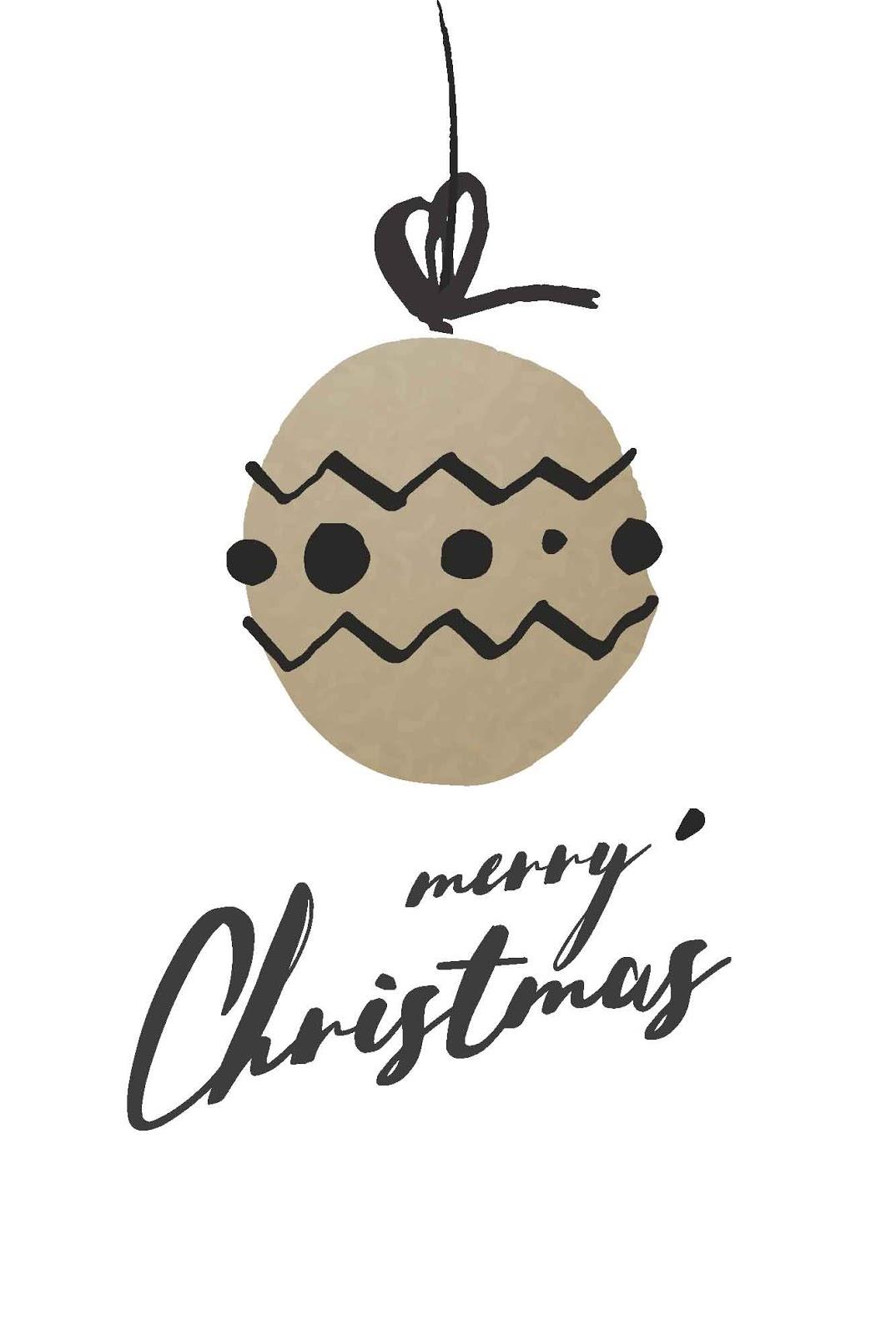 Merry Christmas Card for Print