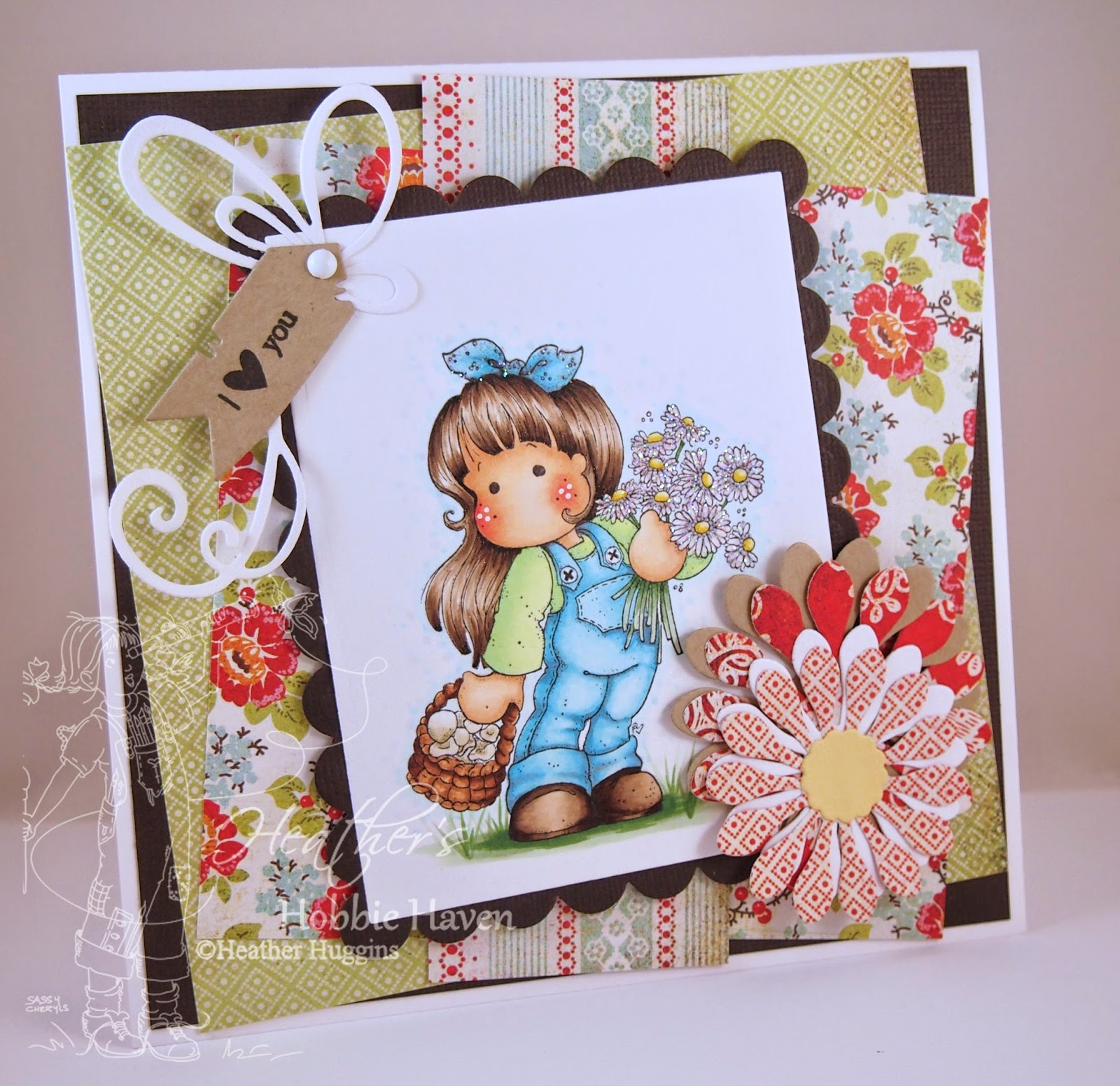 Heather's Hobbie Haven - Tilda with Daisy and Mushrooms Card Kit