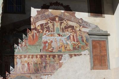 The mural Il trionfo della morte, Oratorio