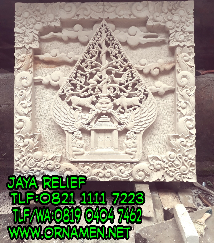 Kerajinan Batu Putih/Batu Alam:Relief Wayang Gunungan ...