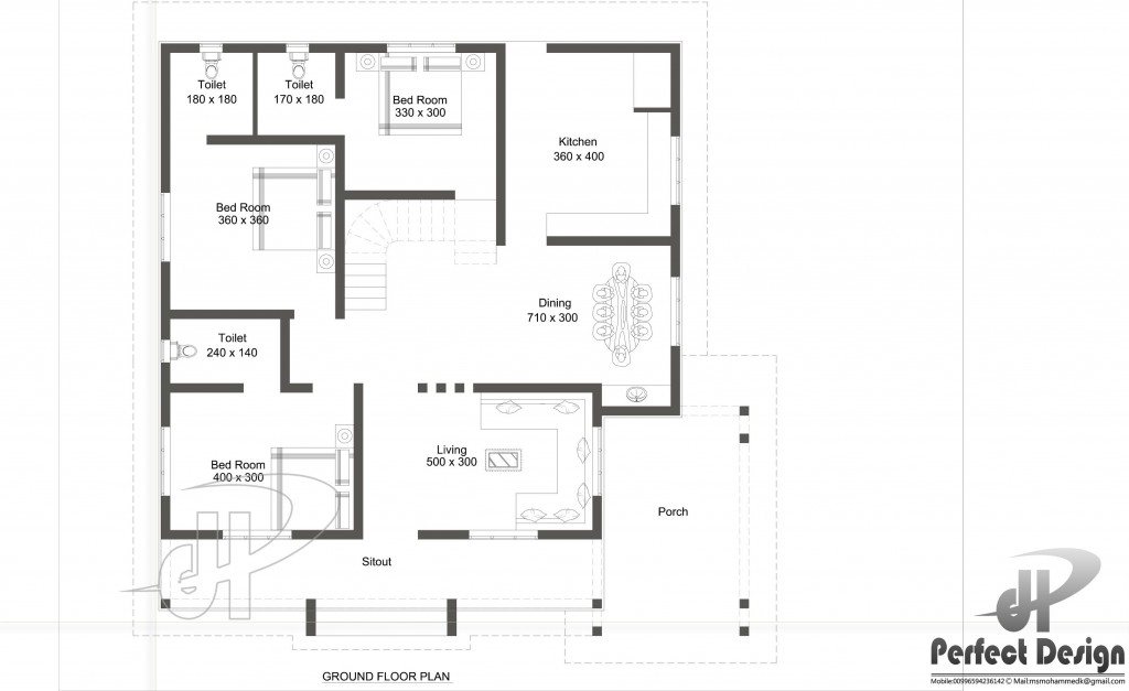 Above 80 square meters home blueprints and floor plans for 300 ft to m