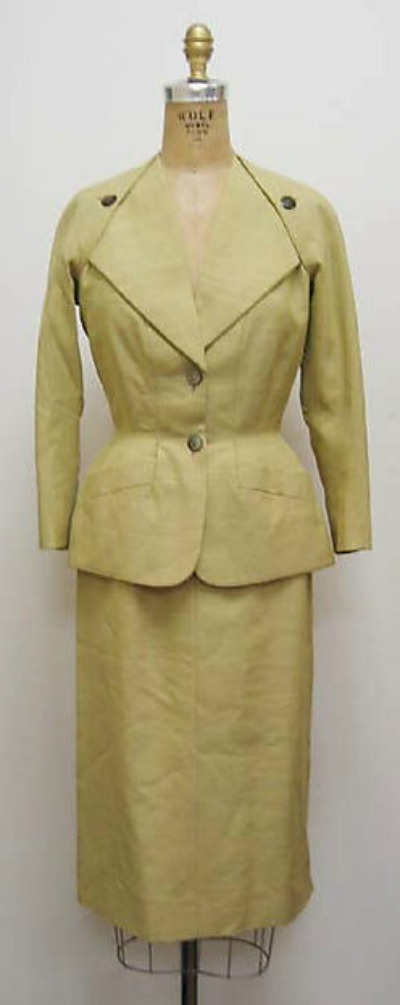 Madeleine de Rauch 1940's Suit in Military Design