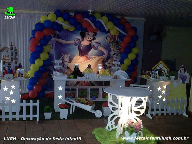 Decoração Branca de Neve - festa de aniversário infantil - Provençal luxo
