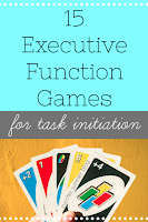 executive functioning, executive functioning games, games for task initiation, helping students start work, special education games