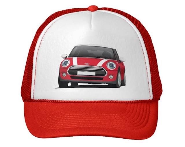 MINI Cooper S illustration hats caps
