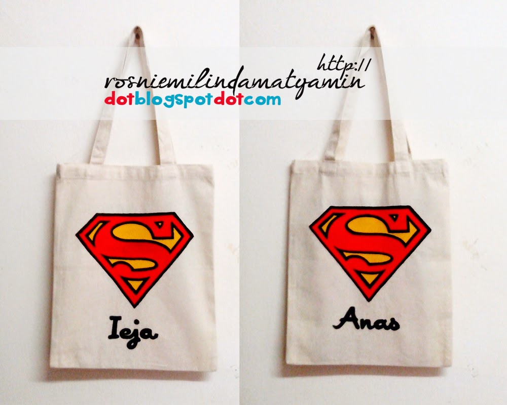 Tempahan custom made tote bag by bearyblossom.