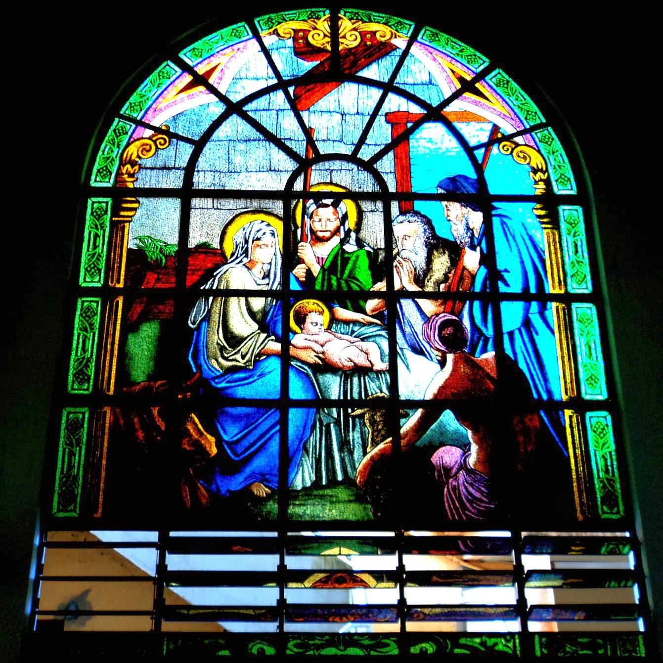 Vitral no Interior da Igreja Matriz de Içara