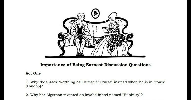 Importance of being Earnest Short Questions Answers