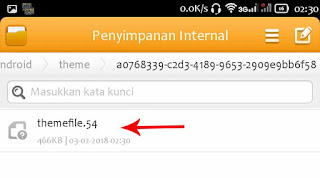 cara download tema line gratis android