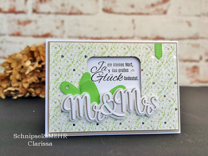 Schnipsel & MEHR: Hochzeitskarte