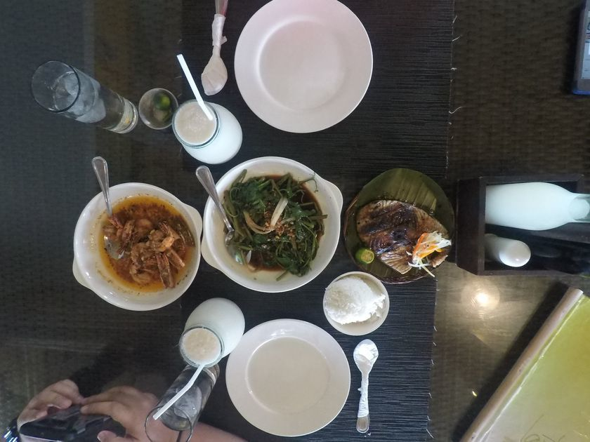 Seafood feast at Lantaw Native Restaurant in Dumaguete City