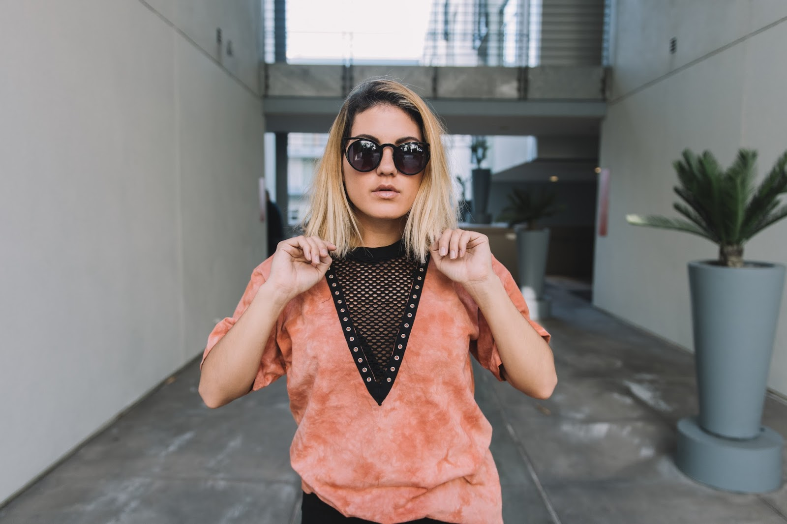 Knit Plunging Neckline - Forever 21 Tee