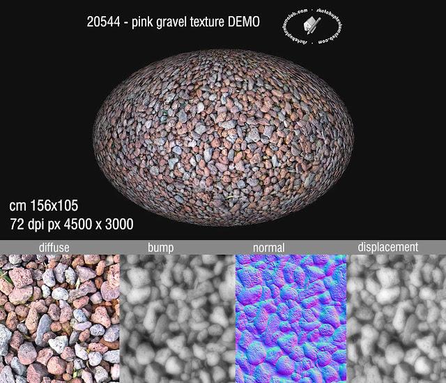 Pink gravel texture seamless