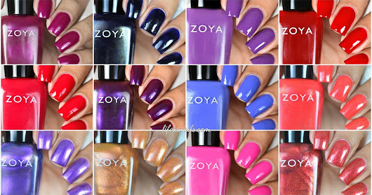 Zoya Party Girls Winter Collection Swatches & Review