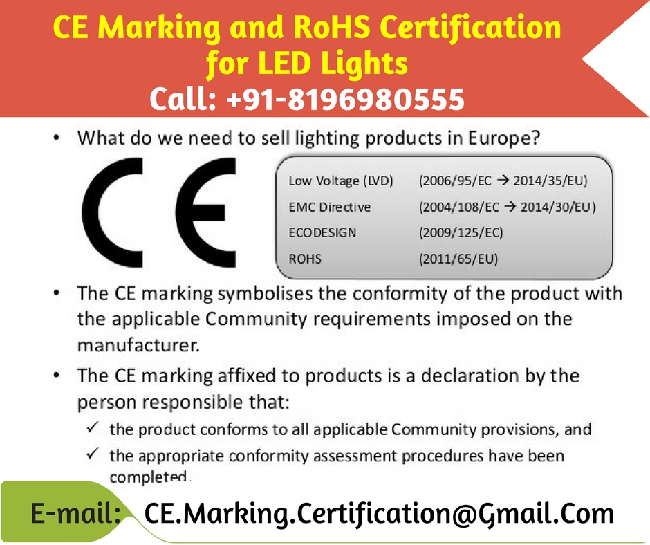 CE Marking and RoHS Certification for LED Lights | CE Certification ...