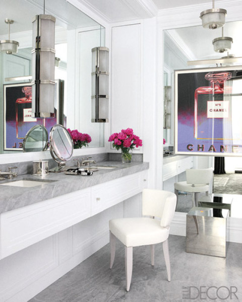 Chairs in the Bathroom | The Well Appointed House Blog: Living the Well  Appointed Life