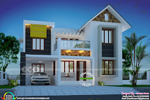 3 Bedroom 1600 Square Feet Mixed Roof Home - Kerala